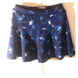 Dark blue skater skirt